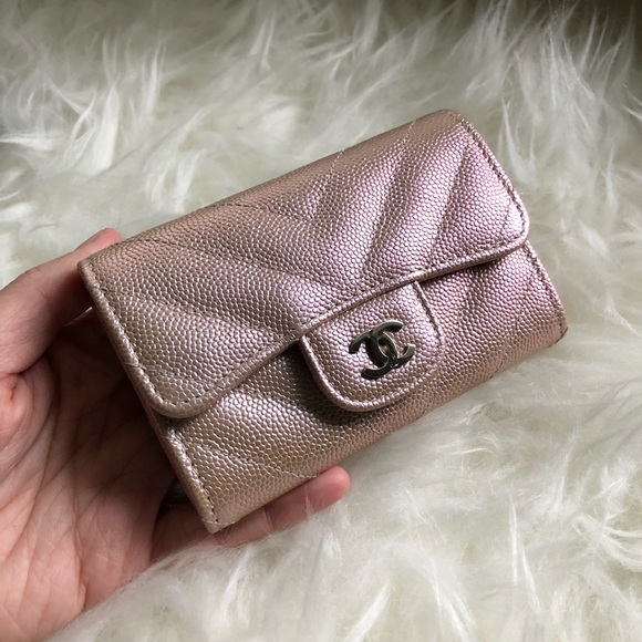 b7a1f25b48e454 CHANEL Bags | Rare Rose Light Gold Iridescent Wallet | Poshmark